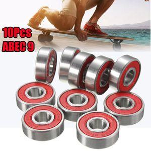 10 배 ABEC-9 608 2RS 인라인 롤러 스케이트 휠 방청 스케이트 보드 휠 레드 샤프트를 8x22x7mm 밀봉 된 베어링 베어링