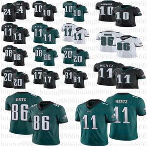 Homens Mulheres Philadelphiajuventude Camisa da águia11 Carson Wentz 86 Zach Ertz Dawkins 10 DeSean Jackson Cox Jeffery 24 Jeres Darius Mate JR