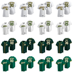 2020 Matt Chapman Jersey Khris Davis Rickey Henderson Jose Canseco Piscotty Canha Reggie Jackson Baseball verde camisas personalizadas costurado
