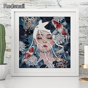 5d diamond painting girl Fish & Anime girl diy Diamond Embroidery cartoon girl accessories Mosaic Full drills kids gift TT076