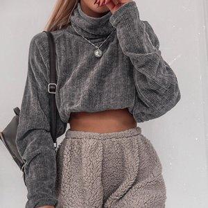 BKLD 2019 Automne Hiver Pull Femmes en tricot Pull à col roulé à manches longues Jumper Pull Femme Femme en vrac