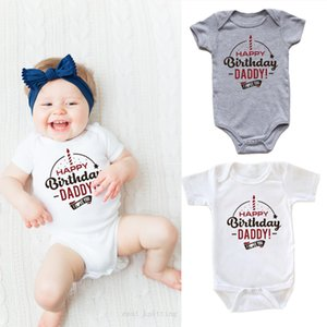 Happy Birthday Daddy Baby Onesie Funny Graphic Printed Bodysuits Baby Grow for Infant Toddler Boys Girls Jumpsuit Party Wear