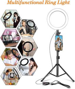 6 بوصة LED حلقة الخفيفة USB سطح المكتب صورة شخصية حلقة الخفيفة مع ترايبود ماكياج مصباح التصوير للكاميرا الهاتف لايف ستوديو