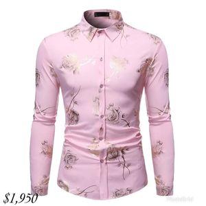 TIAN Qiong Primavera 2020 Nova manga comprida Casual havaiana Mens camisa da praia de luxo All Over imprimiram a camisa Mens Marca Roupa ML28