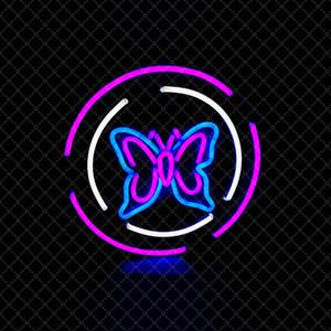 Papillon Sign Accueil Flower Shop Bar Décoration murale Celebration LED colorée Neon Light 12 V Super Bright