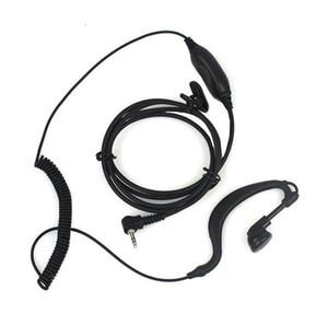 1 PIN PTT Auricolare MIC PER Motorola radio Curl Linea 2,5 millimetri T6200 T6210 T6220 T6250 T6300 T6400 T7200 Nero C021 Alishow 20