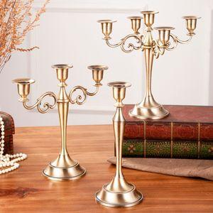 3-light 5-light centerpiece zinc alloy metal silver crystal candelabra candlestick candle holder wedding candelabras