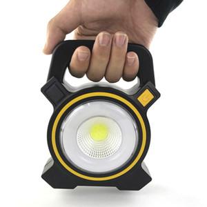 Солнечный свет Powered USB Портативный 30W светодиодный прожектор Фонари COB Пятно Перезаряжаемый Светодиодный Прожектор Открытый работы Точечный светильник 2400LM светодиодные лампы