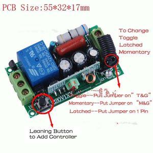 Бесплатная доставка AC220V 1CH 10A пульт дистанционного управления выключатель света релейный выход модуль радиоприемника + чехол 10 шт. / лот