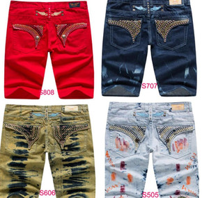 NWT Men/'s Denim Jean with Studs Crystal Mens Robin Jeans Grey Pants SZ 32-42