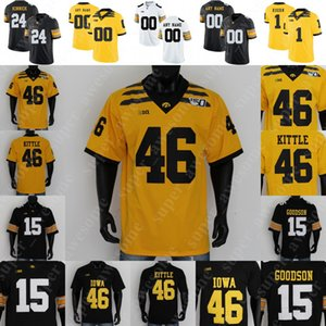 NCAA Iowa Hawkeyes del jersey del fútbol A. J. Epenesa Nate Oliver Stanley Martin Mekhi Sargent Ihmir Smith-Marsette Brandon Smith George Kittle