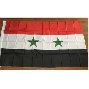 Syria Flag 90x150cm Qualsiasi Stile SY SYR Repubblica araba siriana Paese Bandiera Banner 3x5ft poliestere Volante appendere bandiere nazionali di Ayria