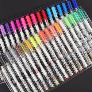 36 colores pluma del gel del brillo Conjunto colorear la pluma del flash Ballpint color de realce Shinning pintura dibujo bricolaje Graffiti Art 177