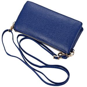 Genuine Leather Shoulder Bags Women Casual Sling Satchel Cross Body Bag Zipper Wallet Phone Pocket Cowhide Handbags Organizer Bag