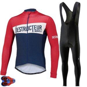 2019 Pro equipo Morvelo manga larga Jersey de ciclo pantalones Set Ropa kit de otoño ropa de ciclo de la bici de ciclismo invierno MUJER