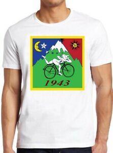 Dia bicicleta camiseta bicicleta viagem 1943BrandAcid Dr. Albert Hofmann O presente fresco do T 262