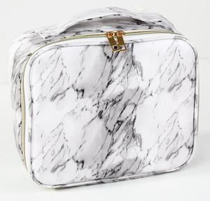 Tolietry kits frauen pu marmor druck wasserdicht reise große kapazität kosmetiktasche weiß und schwarz für beste geschenk sport outdoor