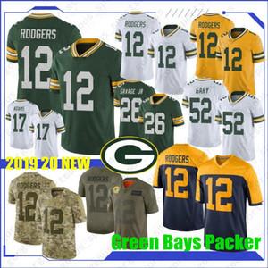12 Aaron Rodgers Grün Bays Jersey Packer 17 Davante Adams 26 Darnell Savage Jr 52 Lehm Matthews 23 Jaire Alexander neuen Trikots