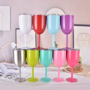 Fuente de la fábrica Custom 10 oz Copa de Champagne Flauta de Vino de Acero Inoxidable Aislada al Vacío Forma de Huevo Cubilete con Tapa