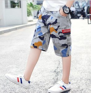 2020 new children's camouflage shorts pure cotton children's wear summer boys' overalls 5   7 pants casual pants wholesale