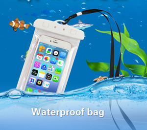 Waterproof bag Cover PVC Protective Mobile Phone Bag Pouch Bags For Diving Swimming Sports For iphone 6 6 plus S7 NOTE 7