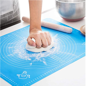 Silicone Pastry Mat for Pastry Rolling with Measurements, Thick Non Stick Baking Mat with Measurement Fondant Mat, Counter Mat, Dough Rollin