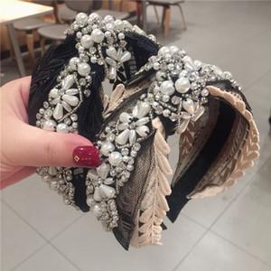 Дизайнерские жемчужные браслеты для волос Fashion Mesh Hollow Headbands для девушки Свадебная вечеринка Роскошные ленты для волос для невесты
