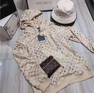 봄 2020 새로운 웹 유명 인사, 빛나는 청동 까마귀의 동일한 유형, 느슨한 얇은 프린트 재킷과 블라우스