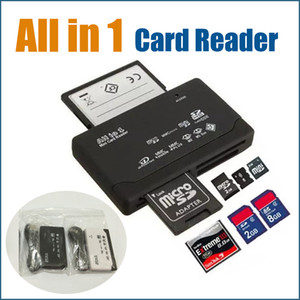 All-in-1 Portable All In One Mini lecteur de carte multi en 1 carte mémoire USB 2.0 Lecteur DHL