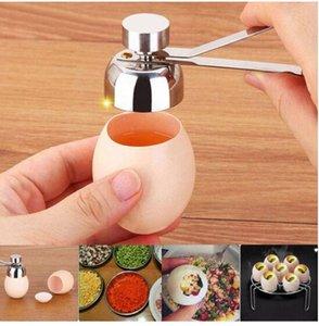 2020 Wholesales Envoi gratuit en acier inoxydable Boiled Egg Topper Scissor Shell Top Cutter Egg outil ouvert