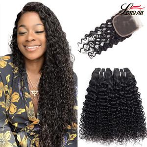 Brezilya Su kapama doğal renk su ile saç demetleri 8-24 inç su kapanması ile insan saçı dalga bakire saç uzatma dalga dalga