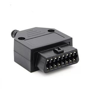 2020 de alta qualidade 16Pin Automotive OBD2 OBDII conector fêmea 70 milímetros Auto OBD teste de diagnóstico plug