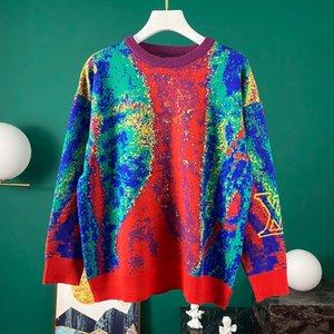vestito maglione degli uomini EUsize incappucciato casuale della banda di colore di moda di stampa formato asiatico selvaggio manica lunga traspirante di alta qualità 014 T-shirt