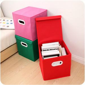 Spinning Cloth Folding Cover Storage Box With Handle Storage Box Finishing Clothing Wholesale Racks And Basket
