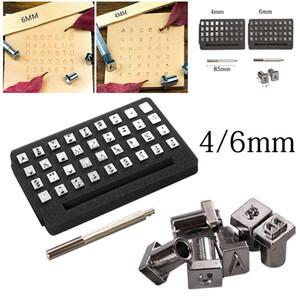 36pcs / set A-Z 1-10 Nombres Lettre alphabet anglais Emboutissage punch Tool Set cuir métal artisanat en cuir Alphabet Timbres