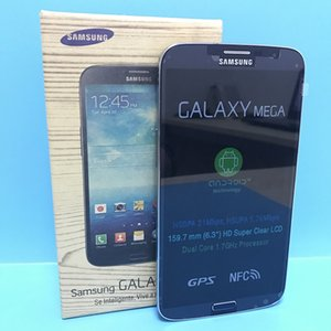 Téléphone d'origine Samsung Galaxy GALAXY Mega 6.3 I9200 Dual Core 6.3 pouces 1.5GB 16GB rom téléphones remis à neuf