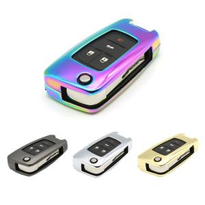 Para Cruze o Sonic BuickRemote Smart Key remoto da chave do carro Caso Shell Fob saco titular Smart Cover Protector Kirsite chapeamento
