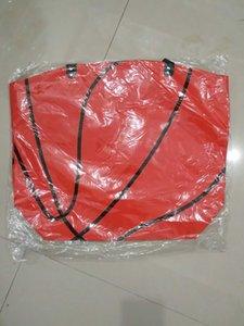 Tote de lona softball / futebol / basquete / beisebol mom bolsa mulheres moda mão tote saco de beisebol utilitário bolsa 22 * 17 * 8 polegadas