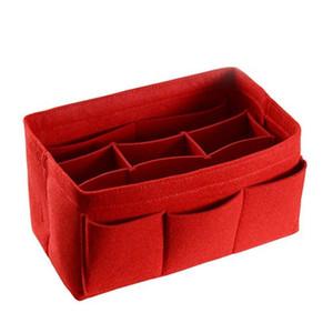 Bolsa de maquillaje de viaje de las mujeres de la moda bolsa de organizador de fieltro de tela de múltiples funciones de almacenamiento de inserción de gran capacidad caliente