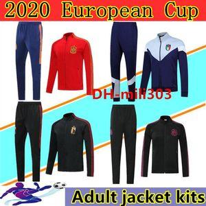 2020 Avrupa Kupası İspanya Belçika İtalya Futbol Ceket Eşofman Chandal 20/21 Survetement Meksika Arjantin Franch Futbol Ceket Spor