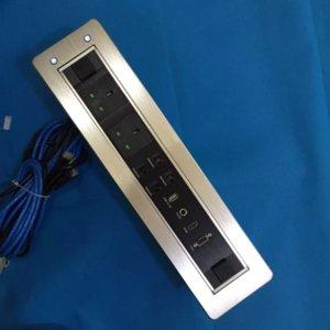 Всплывающие силы таблицы Конференции данные моторизованное сальто вверх по гнезду настольного компьютера 5В 2A зарядное устройство USB панели разъем аллюминевая