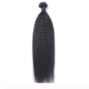 Brazilian Virgin Human Hair Yaki Kinky Straight Unprocessed Remy Hair Weaves Double Wefts 100g Bundle 1bundle lot Can be Dyed Bleached