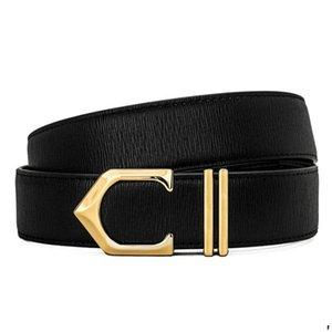 Fashion Designer Belt for Mens Cowhide Belt Casual Man Business Letter C Smooth Buckle Belts Luxury Belts Width 34mm Highly Quality 3 Colors