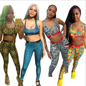 Ethika Fashion Women Tracksuit Sports Bra Crop Tank Vest + Pants Leggings Two Piece Outfits Casual Swimwear Sports Suit Swimsuit Clothing