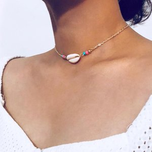 Summer Beach Bohemian Women Sea Shell Charm  Choker Necklace Jewelry Gift New