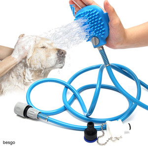 Pet Bath Shower Water Sprayer Pets Supplies Bathing Cleaner Tools Cleaning Massage Scrubber Sprayer Hand Massage Pet Comb DBC BH2993