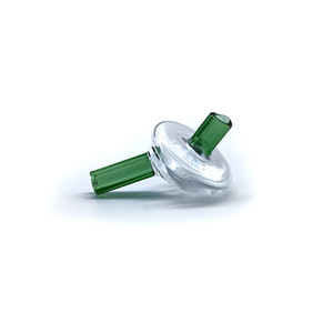 Großhandel Glas Stroh Carb Caps mit Loch für Flat Top-Quarz-Banger Nail Glas Bong Wasserpfeifen Dab Rigs Glasbong OEM Support
