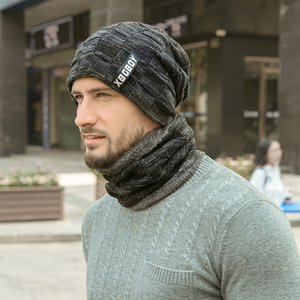 2020 Nouveau Mode Hiver chaud Beanies thermique pour hommes solides Mode Tricoté Casual Skullies Chapeau Bonnet d'hiver