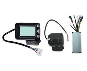 24V / 36V / 48V 250W / 350W E-الدراجة تحكم الفرامل عرض LCD من ألياف الكربون سكوتر تحكم كهربائي