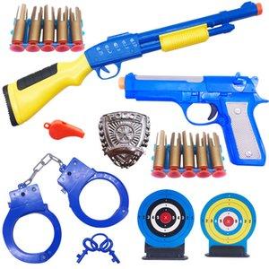 어린이 장난감 캔 시작 총알 소프트 총알 총 모델 경찰 망원경 수갑 세트 장난감 총 건강한 toyss
